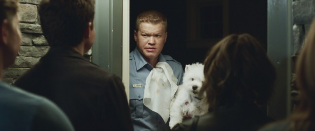 Jesse Plemons scores some of the film's biggest laughs as Gary, the divorced next door neighbor whom the Davises choose not to invite to their game night.