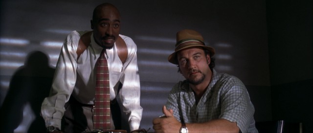"""Gang Related"" stars Tupac Shakur and James Belushi as homicide detectives trying to find someone to pin a murder they performed on someone else."