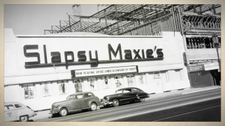 "An old photo from ""Then and Now Locations"" shows us the nightclub Slapsy Maxie's, one of the film's assorted Los Angeles settings."