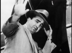 "The real Mickey Cohen is the subject of a licensed 1998 documentary from the series ""Rogues Gallery."""