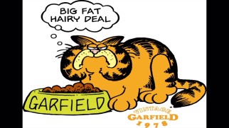 An image gallery still shows Garfield looking quite different in his 1978 debut.