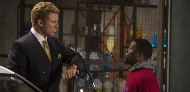 "In ""Get Hard"", a financial criminal (Will Ferrell) sentenced to prison hires a car wash owner (Kevin Hart) he mistakes for an ex-con."