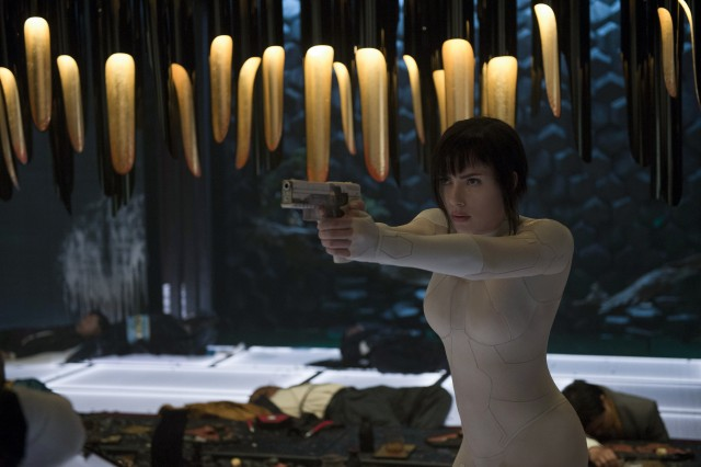 "Scarlett Johansson plays The Major, a part-human, part-cyborg agent in ""Ghost in the Shell."""