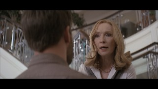 Evelyn (Lindsay Duncan) scolds her estranged son in a deleted scene that looks like a 1997 DVD.