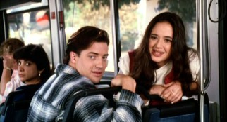Brendan Fraser (already a movie star) and Leah Remini (not yet a big TV star) play Doug and Theresa, a couple whose bus talk about PDA rubs Jack the wrong way.