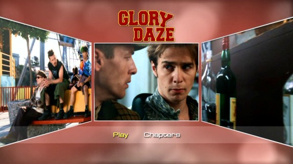 "The main menu for Echo Bridge's ""Glory Daze"" DVD supplies two options and three screens of clips."