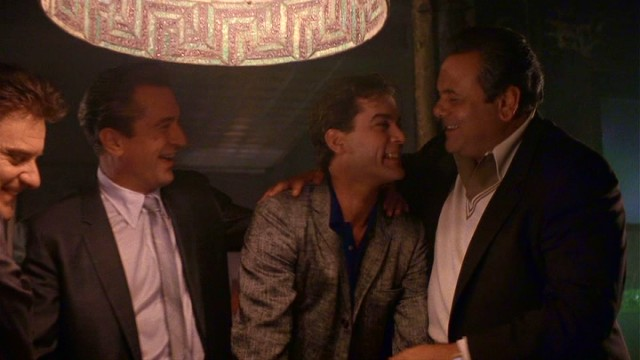 """Goodfellas"" centers on New York mobsters Tommy DeVito (Joe Pesci), Jimmy Conway (Robert De Niro), Henry Hill (Ray Liotta), and Paulie Cicero (Paul Sorvino)."