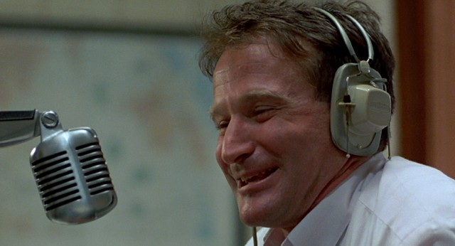 "Robin Williams plays free-spirited military radio DJ Adrian Cronauer in ""Good Morning, Vietnam."""