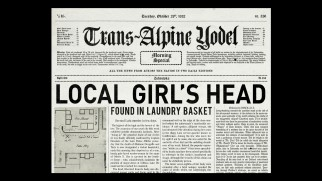 This Trans-Alpine Yodel front page story is one of forty items found in the stills gallery.