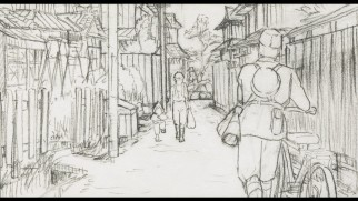 Some shots have more to them than others in the storyboard version of the film.