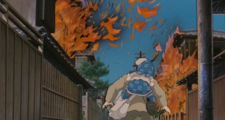 An American air raid brings fire to the street where Seita and Setsuko live.