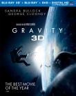 Gravity: Blu-ray 3D + Blu-ray + DVD + UltraViolet combo pack cover art
