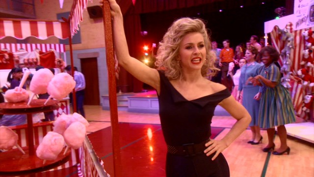 "The moral of ""Grease"" is that if you like someone, you better change to suit their style. Sandy (Julianne Hough) certainly does in the end."