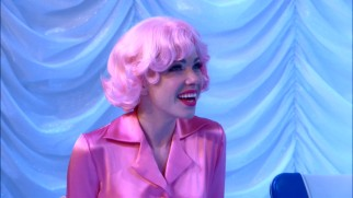 Pink-haired beauty school dropout Frenchie (Carly Rae Jepsen) is excited to see the part of Teen Angel filled by the three active members of Boyz II Men.