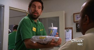 "A particularly egregious piece of Subway product placement on NBC's ""Chuck"" illustrates the practice's role in contemporary television."