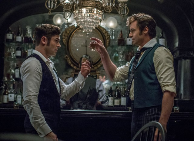 P.T. Barnum (Hugh Jackman) sees business take off after entering into a partnership with stage producer Phillip Carlyle (Zac Efron).