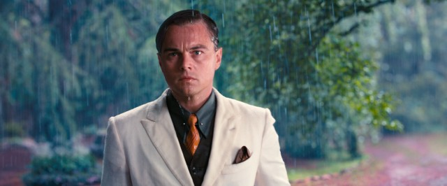 Jay Gatsby (Leonardo DiCaprio), the enigmatic millionaire next door, gets caught in the rain on the afternoon he is to see Daisy for the first time in years.