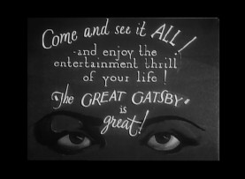 The eyes of The Great Gatsby's iconic cover illustration feature in this trailer for the 1926 silent film adaptation.