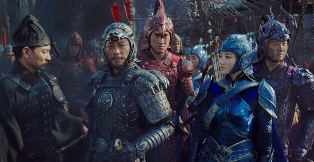 "There are some Chinese people in ""The Great Wall"" (including Andy Lau, Hanyu Zhang, Kenny Lin, Jing Tian, and Xuan Huang), but all are secondary to global superstar Matt Damon."
