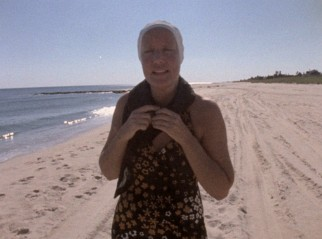 "Little Edie hits the beach and keeps her head covered in ""The Beales of Grey Gardens."""