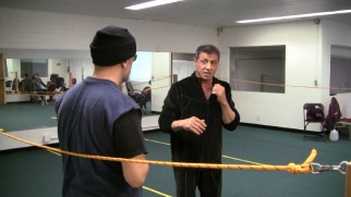 "Sylvester Stallone is seen choreographing the film's fights in ""The Bull and the Stallion."""