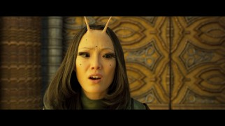A deleted scene shows Mantis (Pom Klementieff) with incomplete visual effects.