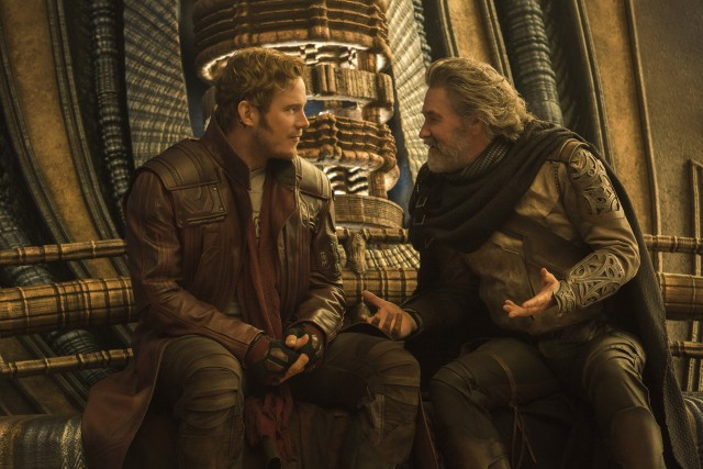 Peter Quill (Chris Pratt) finally meets his father Ego (Kurt Russell) in one of the biggest narratives of this sequel.