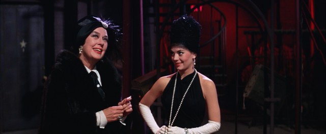 """Gypsy"" gives a happy ending to the overbearing stage mother (Rosalind Russell) and her burlesque star daughter (Natalie Wood)."