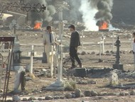 David Fincher directs Michael Douglas in a burning Mexican graveyard.