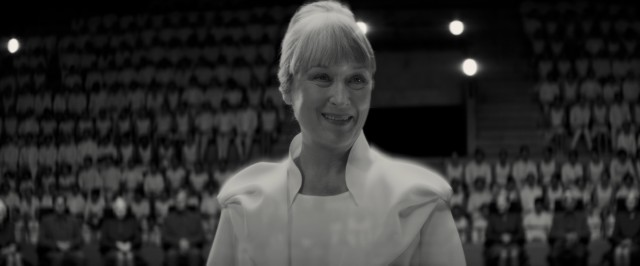 "In ""The Giver"", the Chief Elder (Meryl Streep) appears holographically at the graduation ceremony where teenagers are assigned their jobs."