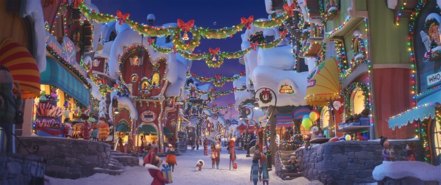 With its rampant Christmas lights and decorations, Whoville is an easy target for The Grinch.