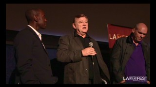 Don Cheadle, Brendan Gleeson, and John Michael McDonagh answer questions at the LA Film Festival.