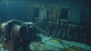 Footage from the Titanic wreck