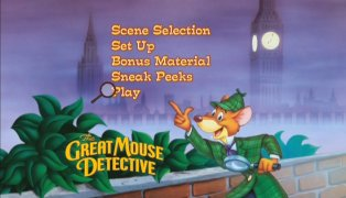 The Great Mouse Detective DVD Main Menu