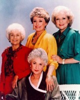 "Clockwise from left: Estelle Getty, Rue McClanahan, Betty White, and Bea Arthur in a ""Golden Girls"" cast photo. Season One comes to DVD on November 30."