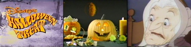 "1982 TV special ""Disney's Halloween Treat"" is hosted by a talking pumpkin and samples spooky Disney feature animation of the past."