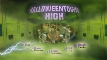 "This main menu is a little fancier than the ones used on the ""Halloweentown"" Double Feature DVD."