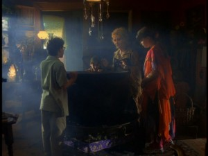 The Cromwell clan gather 'round Grandma Aggie's cauldron to see some answers.