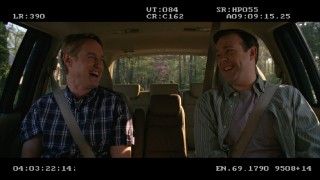Boys will be boys in the backseat of a car. Owen Wilson and Jason Sudeikis crack up in the brief blooper reel.