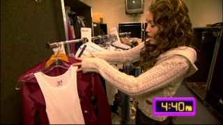 "A few hours before showtime, Miley Cyrus shows off some of her concert outfits in featurette ""The Ultimate Personal Tour."""
