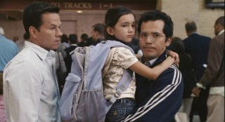 In one of the hundreds of unanswered questions this film has to offer, Julian (John Leguizamo) doesn't take kindly to Alma's presence during the evacuation. Elliot (Mark Wahlberg) and Jess (Ashlyn Sanchez) show as much bewilderment as the script allows.