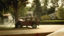 "A remote-controlled stunt jeep takes one for the team in ""Elements of a Scene."""