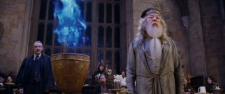 The titular Goblet of Fire has a surprise in store for Hogwarts headmaster Albus Dumbledore (Michael Gambon) and all those anticipating the Triwizard Tournament.