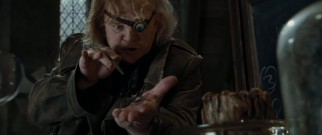 "Alastor ""Mad-Eye"" Moody (Brendan Gleeson), Hogwarts' newest Defense Against the Dark Arts professor, isn't monkeying around as he demonstrates unforgivable curses on a conjured spider."