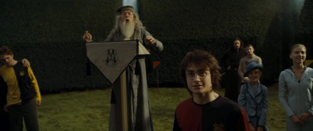 The three, er, four wizards vying for the Triwizard Cup prepare for their final challenge, which Dumbledore announces as a living maze.