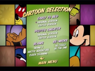 The Cartoon Selection menu gives you the choice to watch the shorts' original or edited version. Whose judgment do you trust more: 1941 Walt Disney or 2009 Disney Channel programmers?