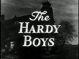 "Part of the title screens for ""The Hardy Boys"", the serial that debuted in October of 1956 on ""The Mickey Mouse Club."""