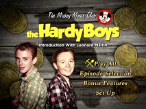 Disc 2's Main Menu for The Hardy Boys makes use of the pick and shovel.