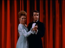 "Mrs. Cunningham (Marion Ross) and Fonzie share a secret relationship in ""Dance Contest."""