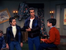 "Fonzie introduces his cousin Spike (Danny Butch) as someone who's allowed to abuse troublesome children in ""Football Frolics."""